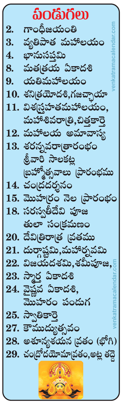 Telugu Calendar 2017 January, February, March & April ...